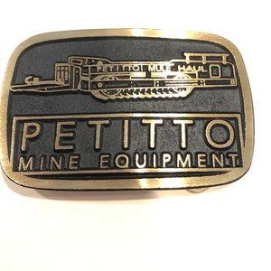 Vintage Petitto Mine Equipment Belt Buckle